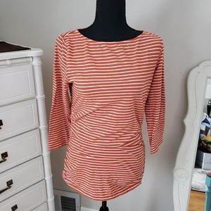 Michael Kors striped orange top